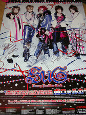 SUG AUTOGRAPHED GROUP POSTER JROCK VISUAL KEI OSHARE JAPANESE J-ROCK VK