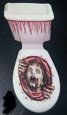 Halloween Horror Blood Terror WOMAN ZOMBIE SCREAM Toilet Decoration FREEPOST