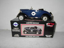 Racing Champions 1937 Chevrolet Convertible Die-Cast Metal Coin Bank with Lock