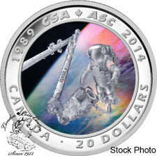 Canada 2014 $20 25th Anniversary of the Canadian Space Agency Coloured Silver