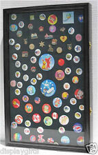 LARGE Lapel Pin Medal Buttons Patches Ribbon Display Case Shadow Box, PC04-BL