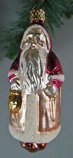 Glass 482 Inge Glas W. Germany Old St. Nick With Toys Old World #4041