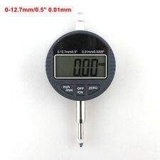 """Digital Micrometer Dial Indicator 12.7mm 0.01mm Micrometro Metric 0.0005"""" LCD"""