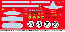 #25 Ferrari Maranello Concessions 1961-71 1/32nd Slot Car Waterslide Decals