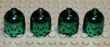 Lego 4x Green Chrome Brick, Round 2x2x1 Dome Top (30151) NEW!