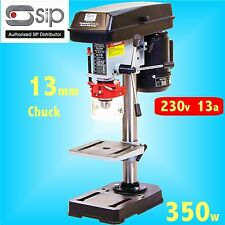 SIP 01700 230v 350w Variable Speed Bench Pillar Drill 13mm chuck table bit press