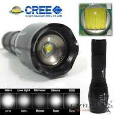 CREE XM-L T6 Zoomable LED Flashlight 5Mode Adjustable Focus Torch Bike Headlight