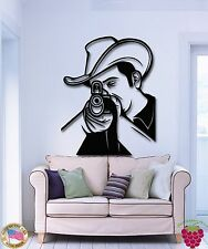 Wall Stickers Vinyl Decal Sniper Shooter Sherif Cowboy Texas (z1819)