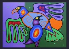 ACEO -TWO BIRDS - LIMITED EDITION PRINT 50-R.BOZZETTI