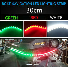 "6x Boat Navigation LED Lighting Waterproof Marine LED Strips 12"" RED,GREEN,WHITE"