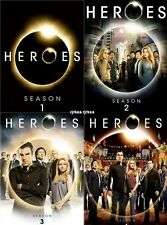 Heroes Season 1 2 3 4  DVD Complete TV Series 1-4 Milo Ventimiglia New