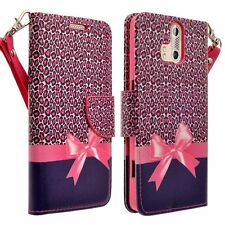 For ZTE Axon Pro Cell Phone Case Hybrid PU Leather Wallet Card Pouch Flip Cover
