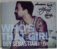 GUY SEBASTIAN: WHO'S THAT GIRL Ft EVE - - CD SINGLE, AUTOGRAPHED / SIGNED, NEW