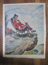 "Vintage HENRY MAJOR print NEW YORK GRAPHIC ""The Rocking Chair Philosopher"""