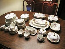 JEAN POUYAT JPL LIMOGES FRANCE CHINA - RHEIMS PATTERN -  78 PIECES