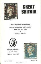 Catálogo De Subasta Gran Bretaña el Minimus Colección 1980