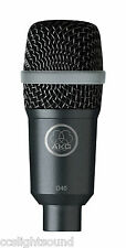 AKG D40 PROFESSIONAL DYNAMIC INSTRUMENT MICROPHONE WITH DRUM CLIP
