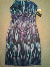 Karen Millen Stunning Purple / Multi Dress Size 16 Brand New