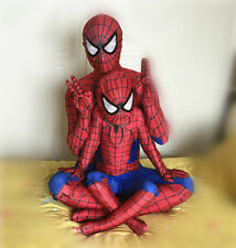 Man Halloween Costume Adult Cosplay Clothes Spider-Man Outfits Size 170-190cm