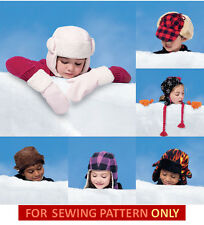 SALE! SEWING PATTERN! MAKE WINTER HATS~MITTS~MITTENS!  BOY~GIRL!  5 HAT STYLES