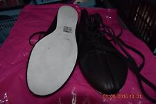 Black Freed suede sole ghillies/ irish dancing soft shoes -size UK 6
