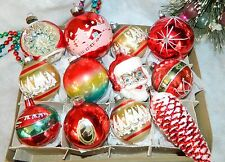 Big Vintage Germany Poland USA Glass Christmas Ornaments