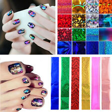 50 PCS Nail Art Wrap Foils Transfer Glitter Stickers Polish Decals Manicure Tool