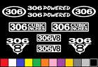 306 V8 POWERED 10 DECAL SET BORED 302 ENGINE STICKER EMBLEM FENDER BADGE DECAL