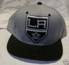 LOS ANGELES KINGS NHL GRAY AND BLACK MITCHELL & NESS OSFA SNAPBACK HAT/CAP NWT