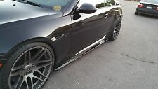 BMW E63 M6 TYPE II DRY CARBON FIBER SIDE SKIRT DIFFUSER LIP EXTENSIONS