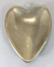 """Nambe Heart Shaped Sweetheart Bowl Dish 8.5"""" #118B Matte Finish"""