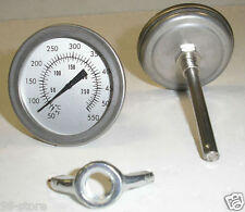 "Lot of 5pcs F&C 3"" BBQ SMOKER/PIT/GRILL THERMOMETER TEMP GAUGE !"