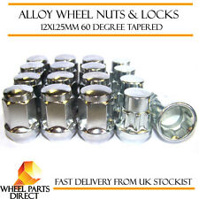 Wheel Nuts & Locks (12+4) 12x1.25 Bolts for Subaru Pleo [Mk2] 09-16