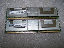 4GB Samsung 667MHz PC2-5300F Fully Buffered FBDIMM memory, 2x 2GB modules
