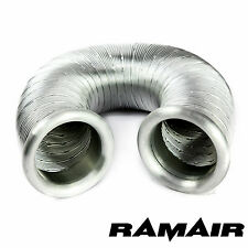 RAMAIR Aluminium Cold Air Feed Ducting Intake Hose Pipe 80mm x 1000mm With Caps