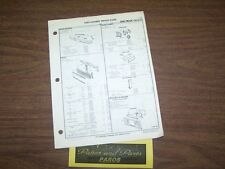 1973 1974 1975 GMC PICKUP TRUCK and SUBURBAN FACTORY OEM PART NUMBER LIST