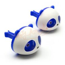 1 Pair Blue Cute Panda Car Perfume Air Freshener Auto Decoration Accessories