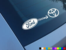 FORD TOWING TOYOTA CAR STICKER FUNNY DECAL 4X4 OFF ROAD RANGER MAVERICK F150