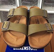 Birkenstock Arizona 1003150 size 37 L6-6.5 R Olive Birko-Flor Sandals