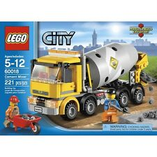 LEGO CITY 60018 CEMENT MIXER (221 PCS) AGES 5-12 NEW UNOPEN