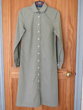 Vintage YMC (You Must Create) London Green Long Shirt Dress Size UK 8 Small