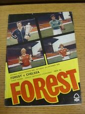 02/12/1978 Nottingham Forest v Chelsea  (the item is in good/very good condition