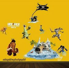 Ice Age Sid Scrat Squirrel Elephant Wall Decals Removable Kids Stickers Decor