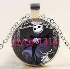 Nightmare Before Christmas Cabochon silver Glass Chain Pendant Necklace #5799