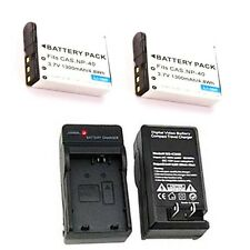 2X LB-060 Battery + Charger for Kodak PIXPRO AZ522 AZ521 AZ501 AZ421 AZ362 AZ361