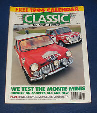 CLASSIC AND SPORTS CAR FEBRUARY 1994 - PADDY HOPKIRK'S MONTE MINIS