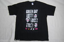 Green Day Uno Dos tre pequeñas caras Cruz ojos camiseta XL nuevo oficial Billie Joe