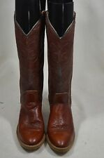 VINTAGE ACME DINGO WOMENS 5.5 M BROWN TALL SHAFT ROPERS WESTERN COWBOY BOOTS