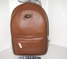 New Michael Kors Luggage Brown Leather Large Backpack Tech Friendly NWT $298