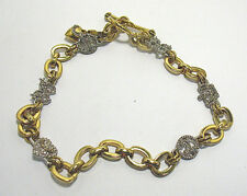 """JUICY COUTURE GOLD CLEAR NECKLACE CROWN BOW HEART 16"""" LONG"""